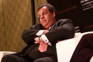 Governor Chris Christie of New Jersey speaking at an event hosted by The McCain Institute in Phoenix, Arizona.