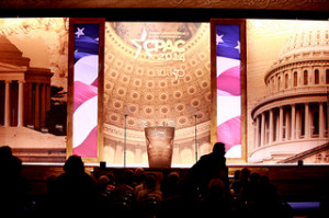 Empty stage for empty suits at CPAC 2014