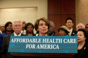 House Minority Leader Nancy Pelosi celebrates 4th anniversary of Affordable Care Act, 3/23/14.
