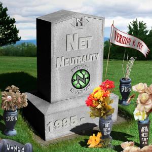 Net Neutrality gravestone