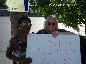 Protesters for Mike Brown in Ferguson, MO
