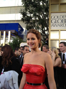 Jennifer Lawrence at the 2013 Golden Globe Awards