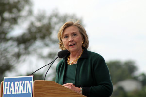 Hillary Clinton, 67, at Tom Harkin Steak Fry, September 2014