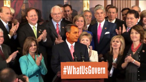 John Boehner and Republicans at September 2013 rally to shut down federal government
