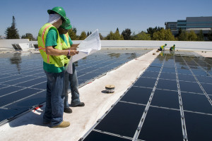 Solar installation on Walmart store, Mountain View, CA