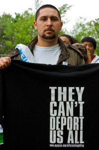 Protester at 2010 immigration reform rally