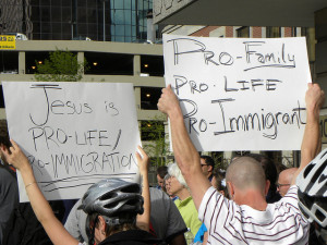 Protesters opposing Arizona anti-immigrant law