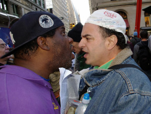 Argument at Occupy Wall Street 2011