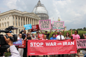 Demonstration against war with Iran, U.S. Capitol