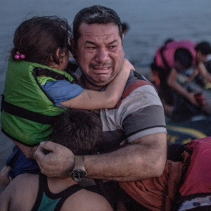 Syrian refugee family arriving in Greece -- not our enemy