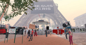 Second Life commemorates the Paris attacks the next day
