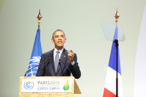 President Obama at the COP 21 climate conference in France