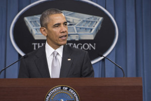 President Obama speaks at the Pentagon last December