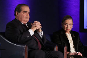 U.S. Supreme Court Justices Antonin Scalia and Ruth Bader Ginsburg