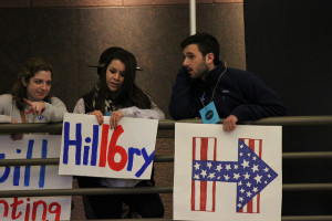 Volunteers for Hillary Clinton in Des Moines, Iowa