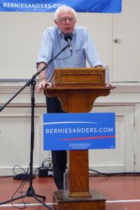 Bernie Sanders campaigning in Franklin, NH
