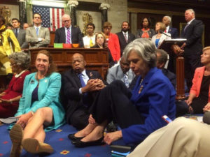 U.S. House Democrats stage anti-gun violence sit-in on House floor