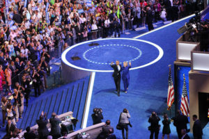 Hillary Clinton and President Barack Obama at the 2016 Democratic National Convention