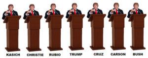 Donald Trump debates Donald Trump